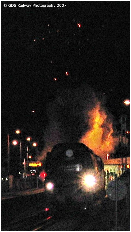 Tangmere blasts through Billingshurst at night in 2007