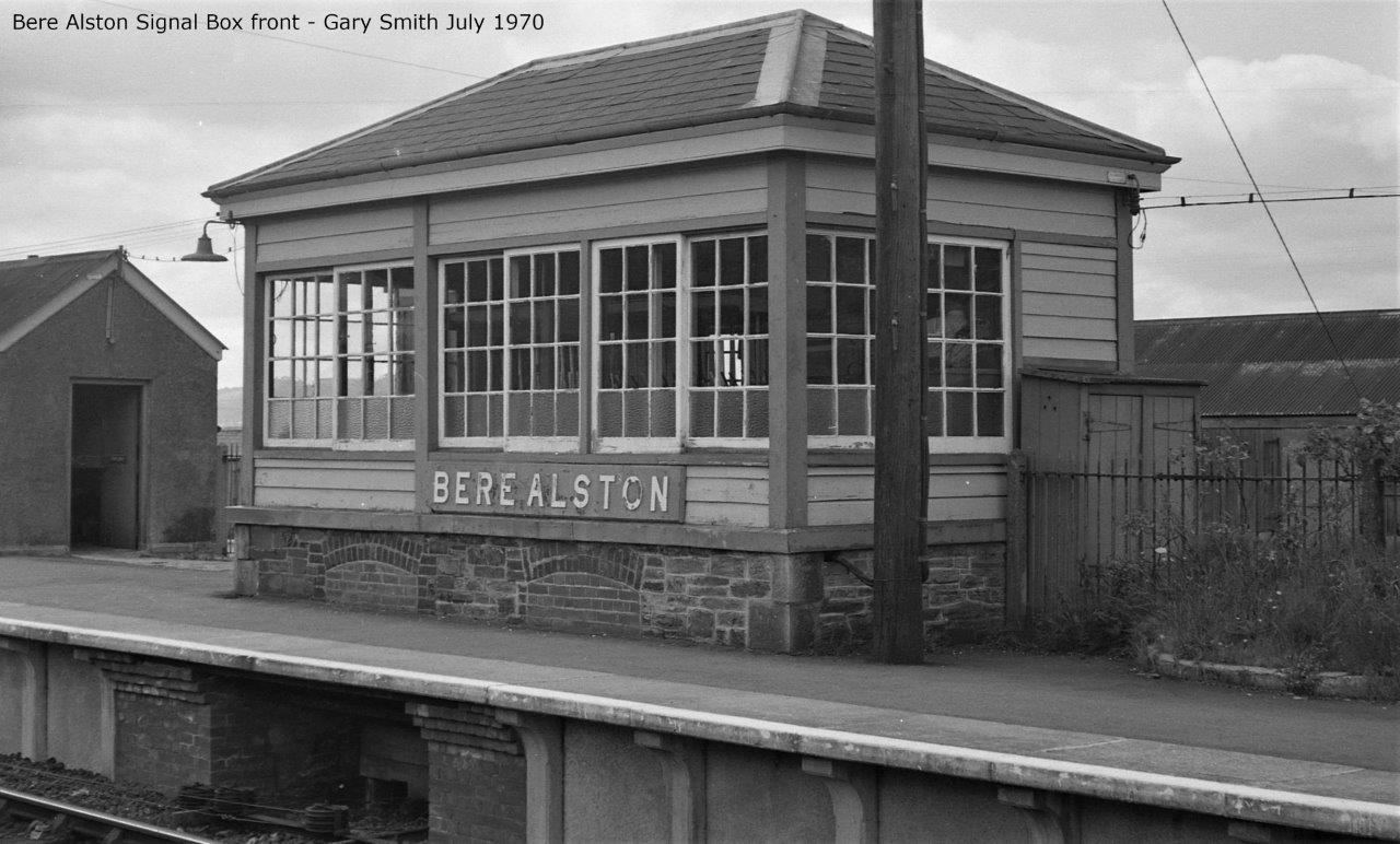 Front elevation of Bere Alston signal box
