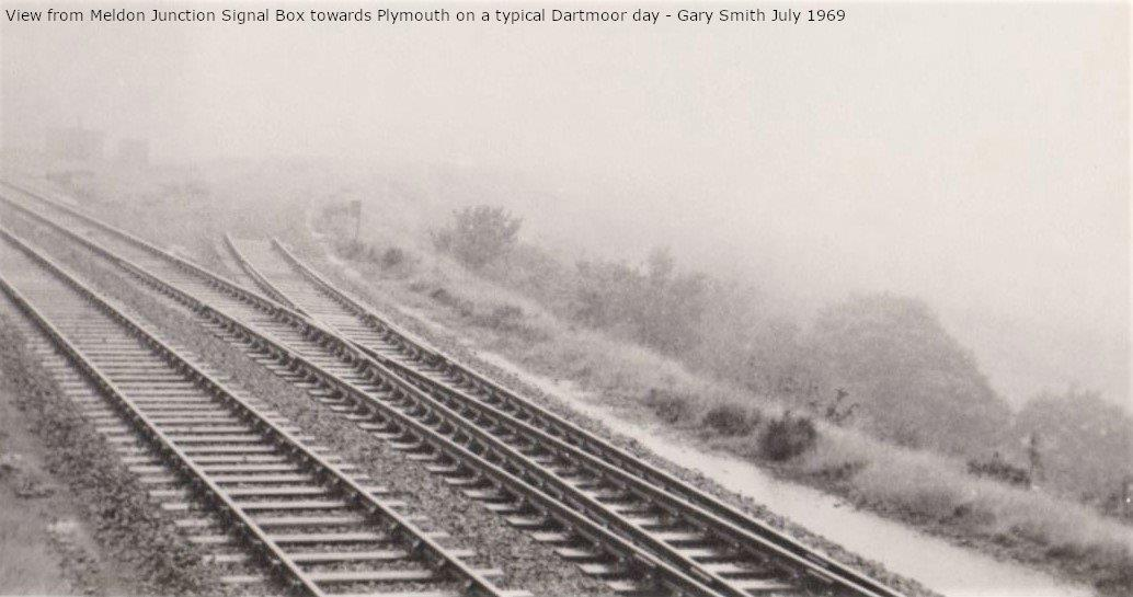 View from Meldon Junction signal box 1969