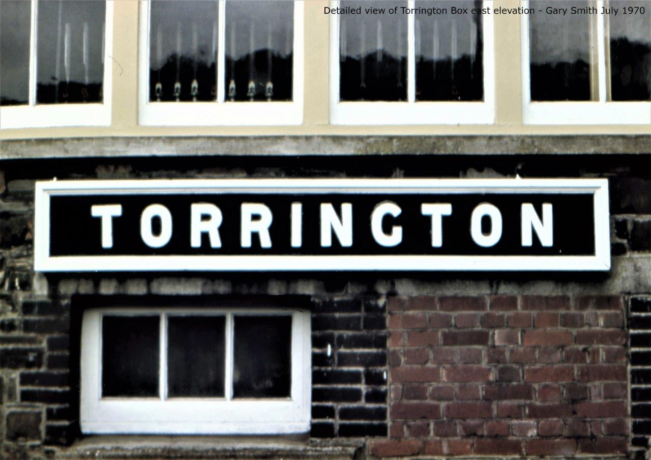 Front elevation of Torrington signal box